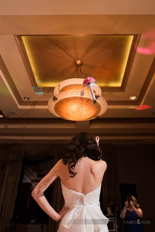 Dragon Ridge Las Vegas Wedding Reception Bouquet Toss