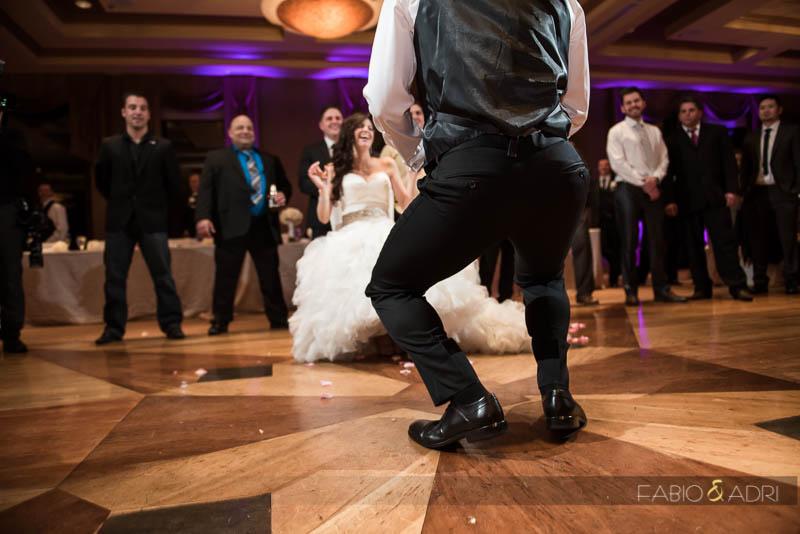 Dragon Ridge Las Vegas Wedding Reception Garter Toss
