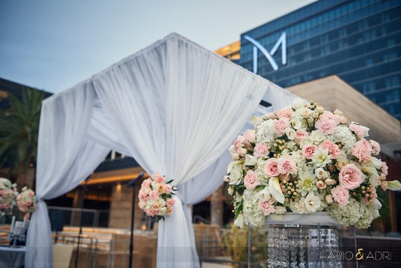 M Resort Poolside Wedding