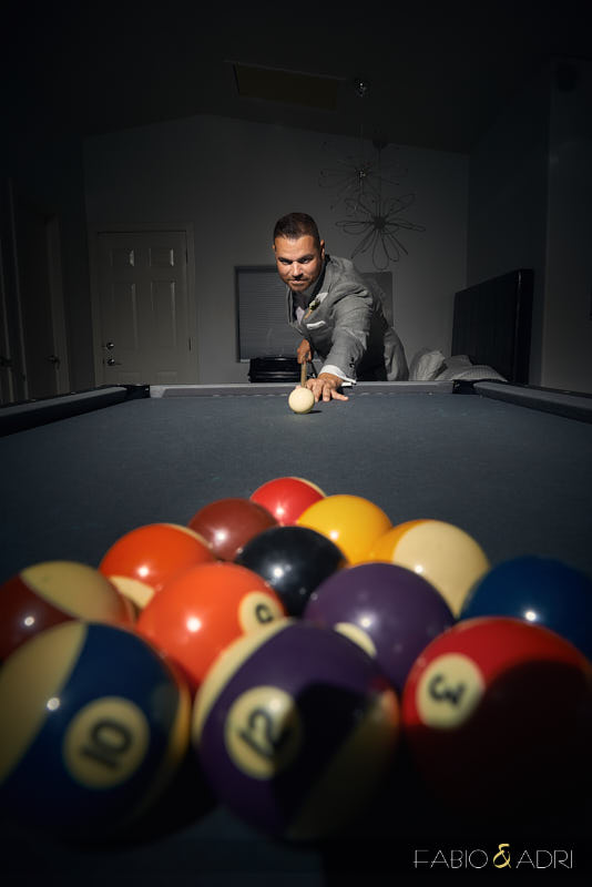 Groom Playing Pool The 2810 Private Resort