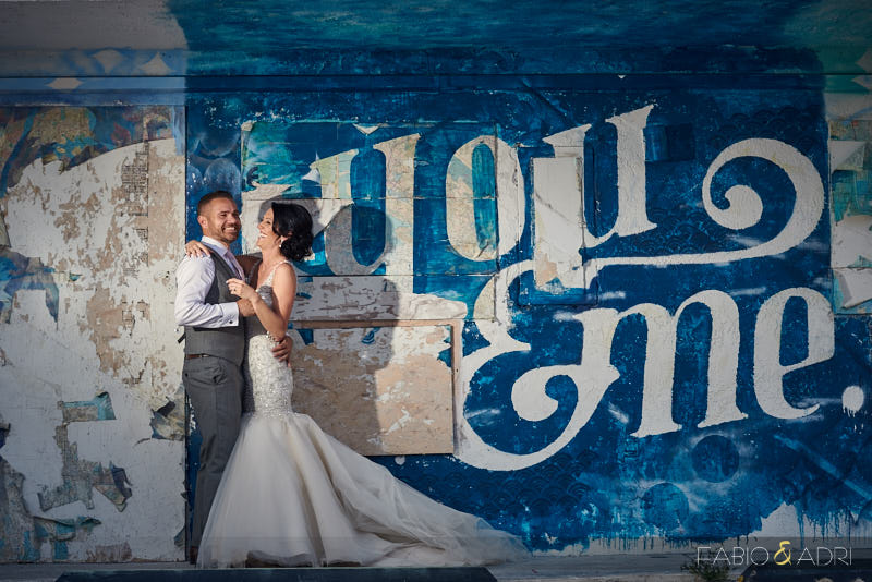 Downtown Las Vegas Wedding Graffiti Walls