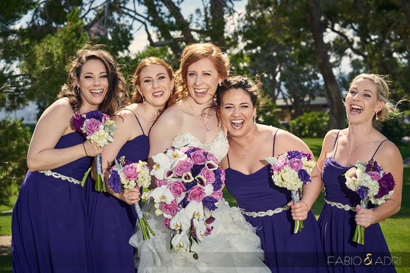 Bride and Bridesmaids at Las Vegas Counrtry Club