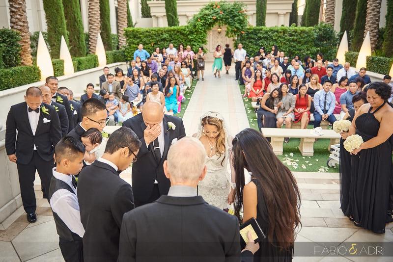 Juno Garden Wedding Ceremony Caesars Palace
