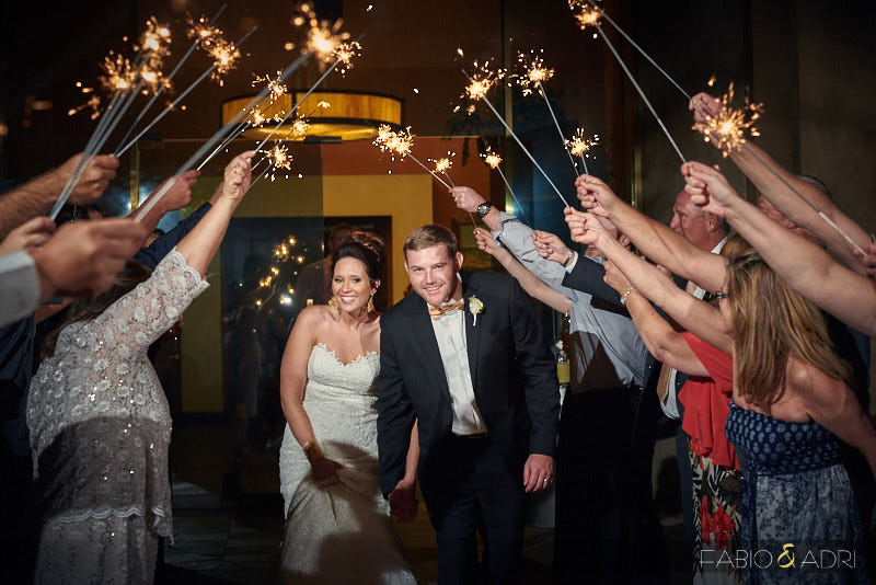 Las Vegas Paiute Wedding Sparkler Grand Exit