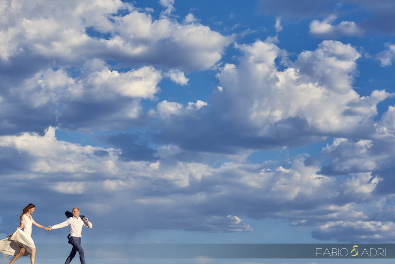 Las Vegas Desert Wedding Dramatic Clouds