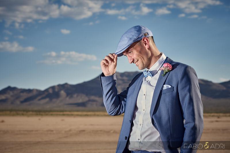Groom Photo Las Vegas Desert and Mountains