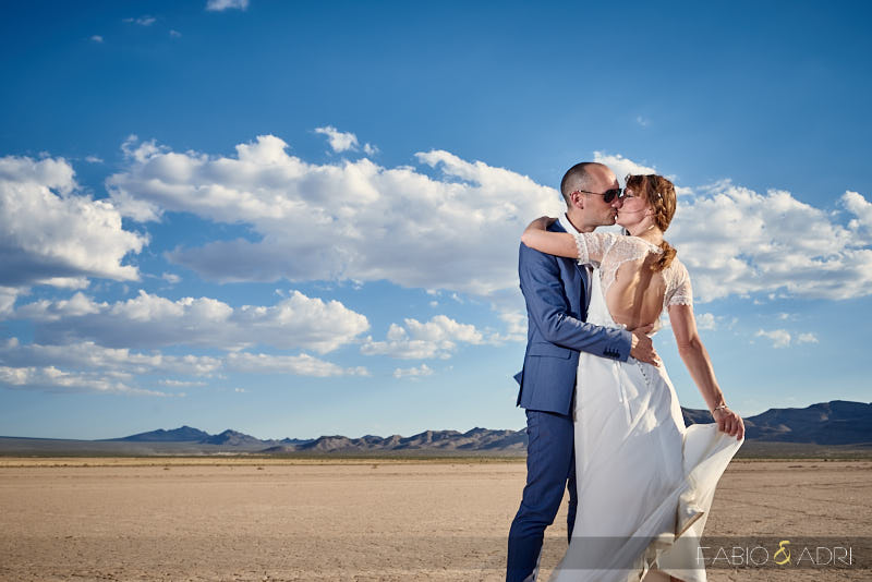 Las Vegas Desert Wedding Photo