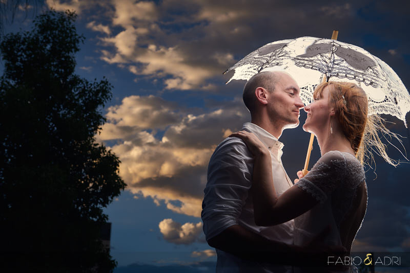 Las Vegas Desert Wedding Romantic Parasol Photo