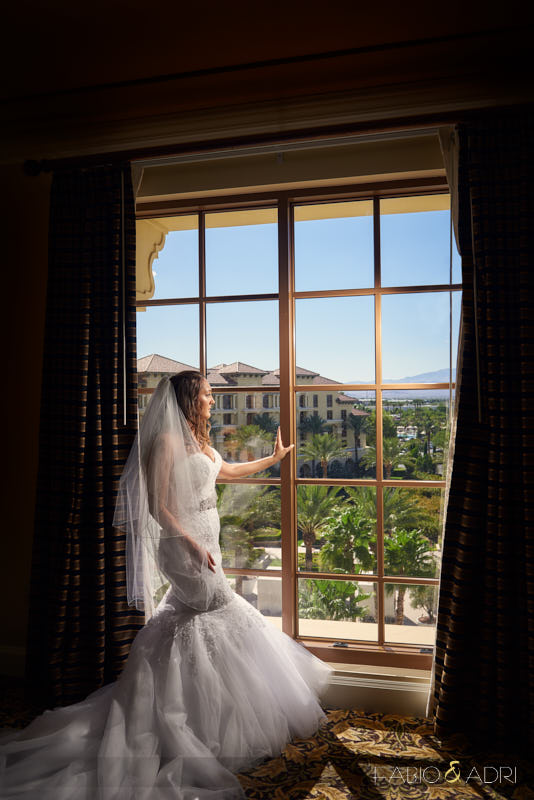 Bride Looking Out the Window GVR Las Vegas