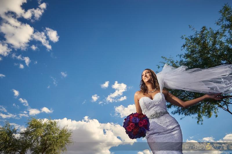 Dramatic Bride Sky Photo