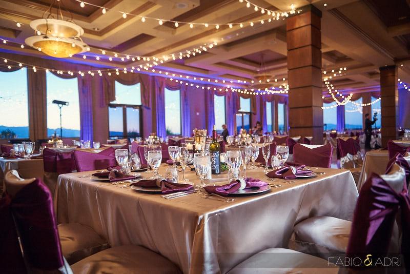 Wine Themed Dragon Ridge Wedding with Bistro Lights