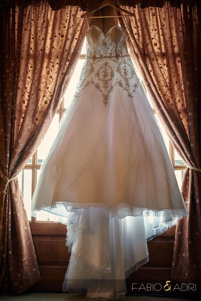 Hanging Dress Hilton Lake Las Vegas Bridal Suite