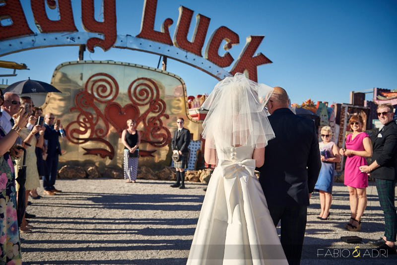 Neon Museum Wedding Ceremony