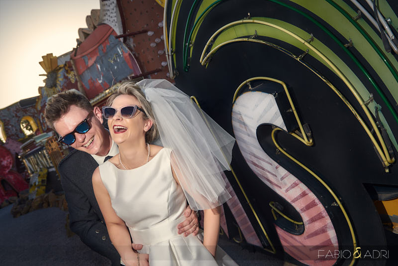 Neon Boneyard Wedding Photographer