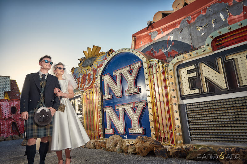 Neon Boneyard Wedding Las Vegas