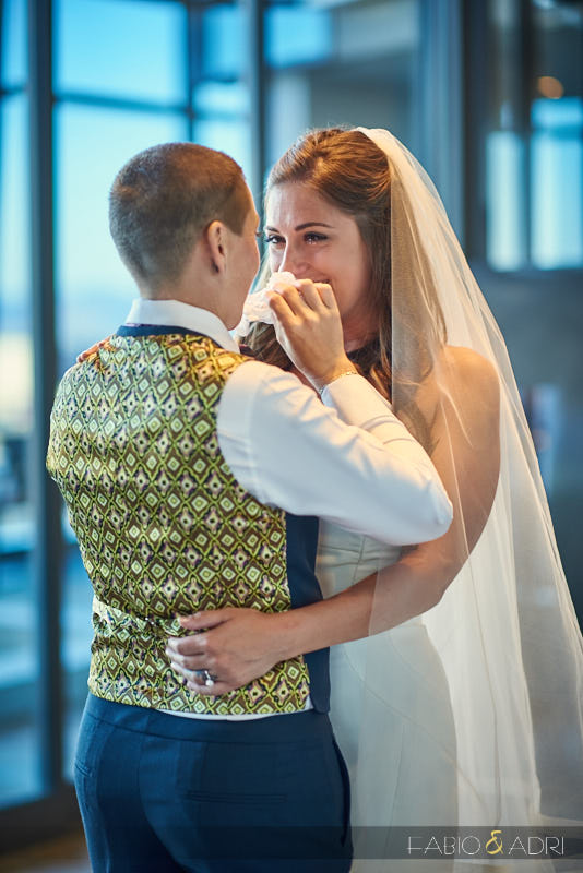 Same Sex Wedding Emotional First Look