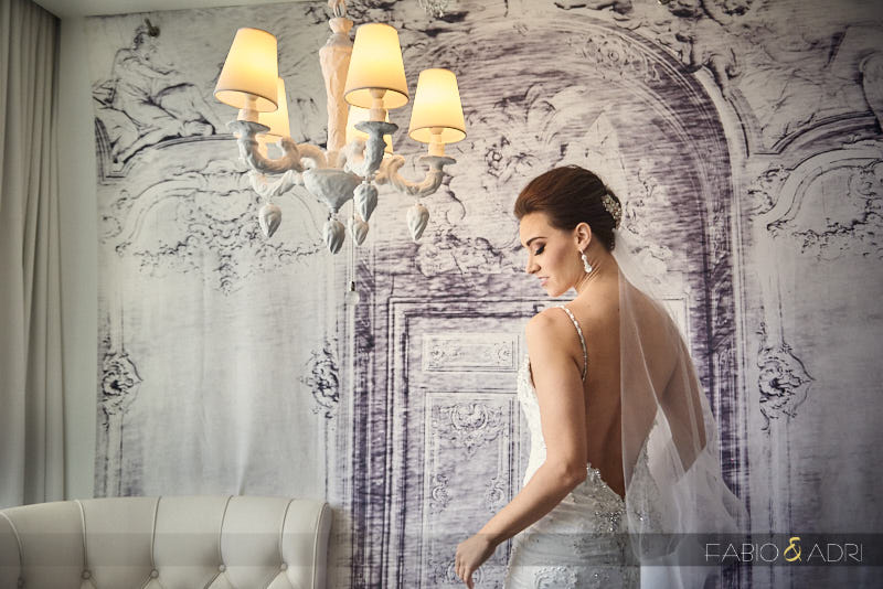 Bride Backless Dress Photo SLS Las Vegas