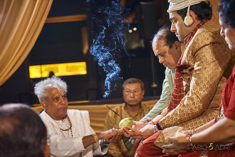 Bengali Hindu Ceremony The Edge Lounge at JW Marriott Las Vegas
