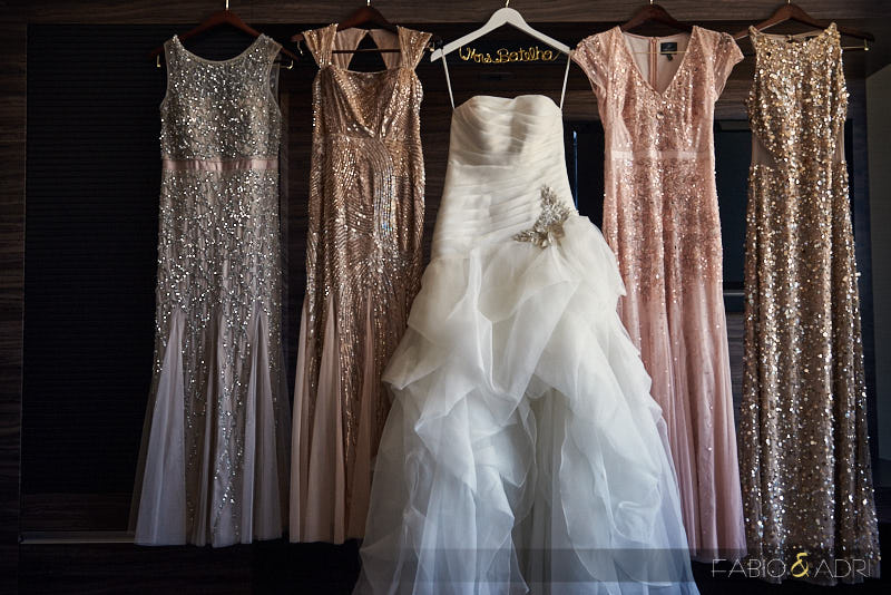 Sequins Bridesmaids Dresses