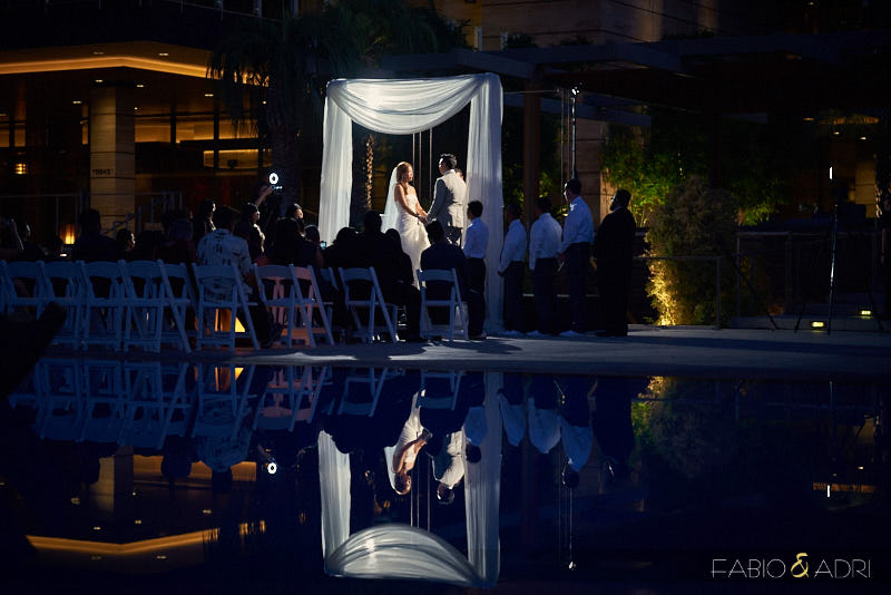 The M Resort Wedding Ceremony at Night