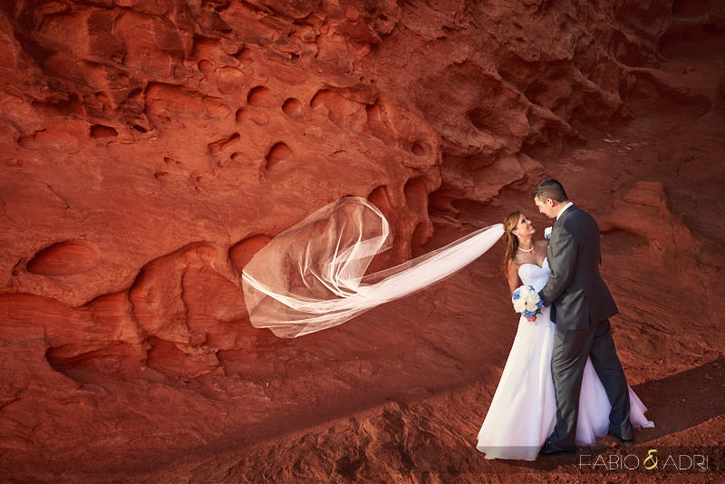 Valley of Fire Wedding Flying Veil