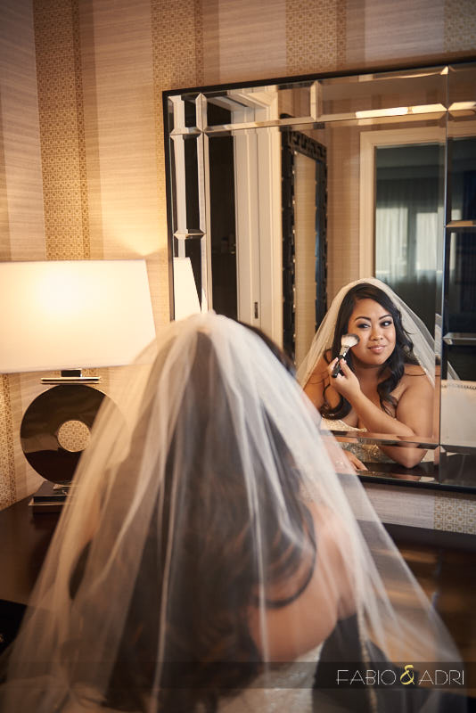 Bride getting ready Caesars Palace Las Vegas