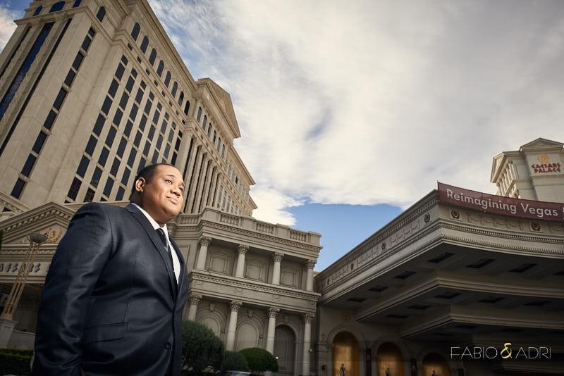 Groom portrait Caesars Las Vegas