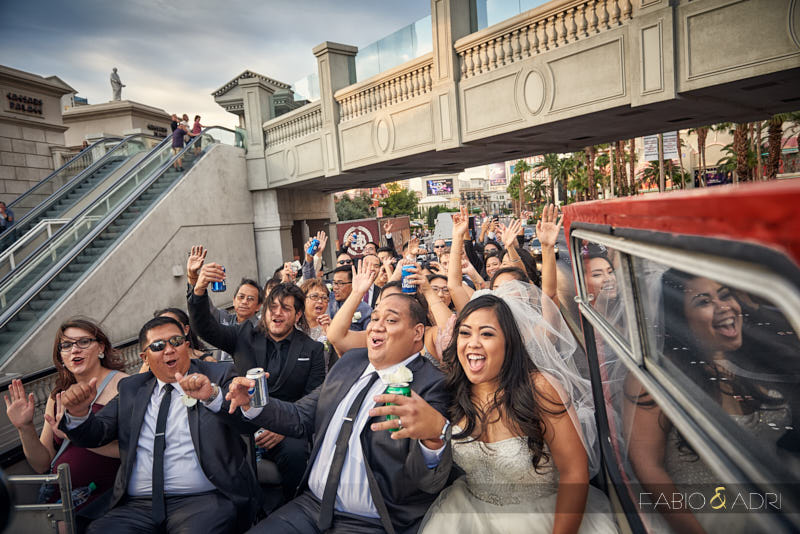 Double Decker Strip Tour Wedding Las Vegas