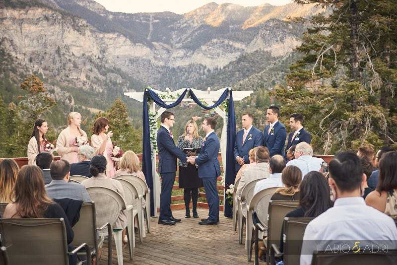 Mount Charleston Lodge Wedding Ceremony