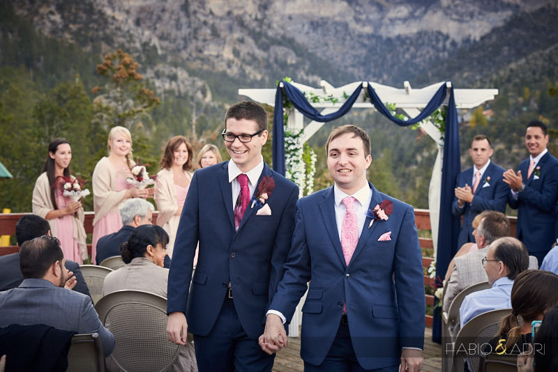 Mount Charleston Lodge Same Sex Wedding Ceremony
