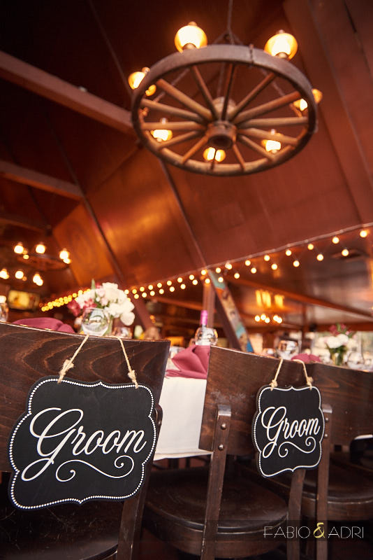 Groom and Groom Wedding Chair Sign