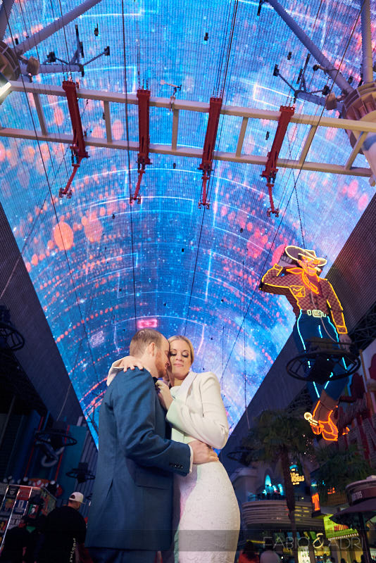Wedding Photo Fremont Street