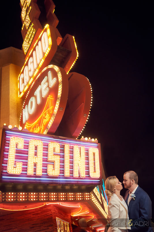 Wedding Pic Fremont Street Downtown Las Vegas