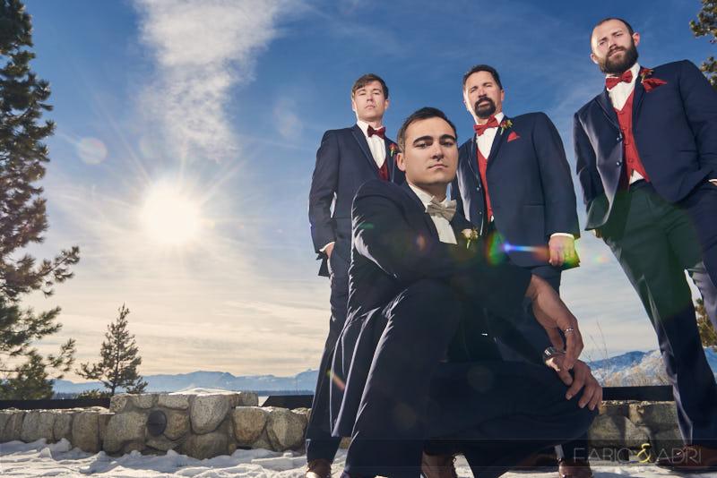Groom and Groomsmen Egewood South Lake Tahoe Wedding