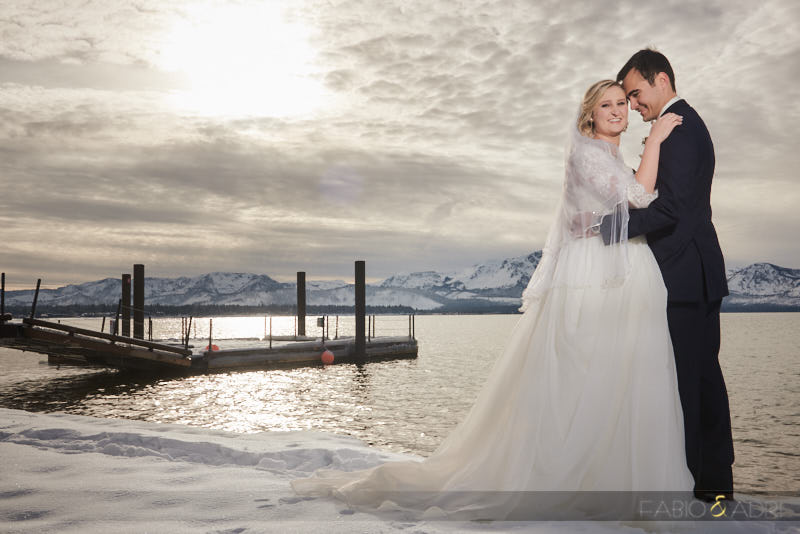 South Lake Tahoe Snow Wedding