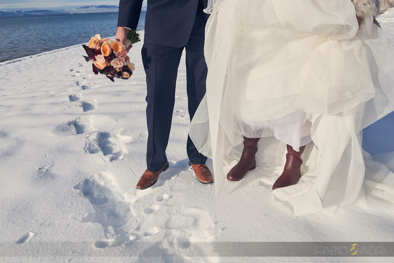 Winter Wedding Bride Snow Boots