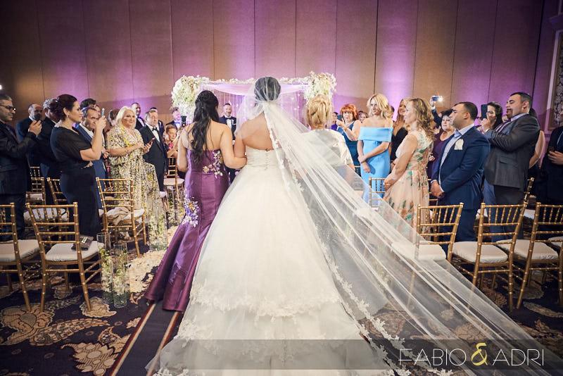 Bellagio Ment Ballroom Wedding Ceremony