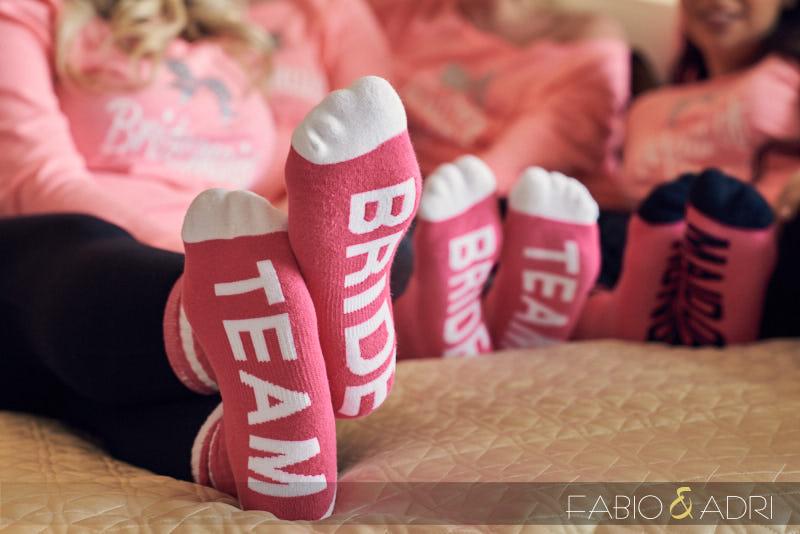 Custom Bridal Party Socks