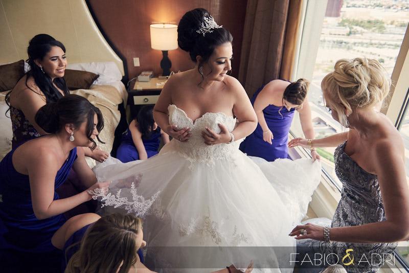 Bride Getting Ready at Bellagio
