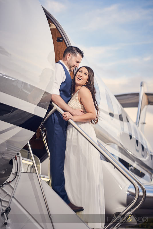 Airplane Engagement Session Las Vegas