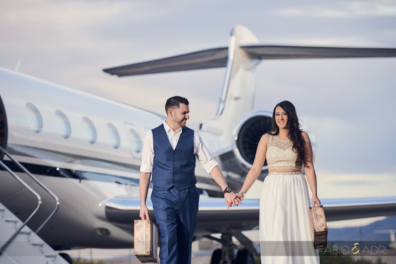 Private Jet Engagement Session Las Vegas