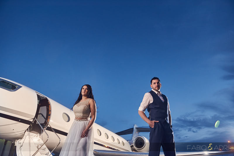 Airplane Private Jet Engagement Session Las Vegas