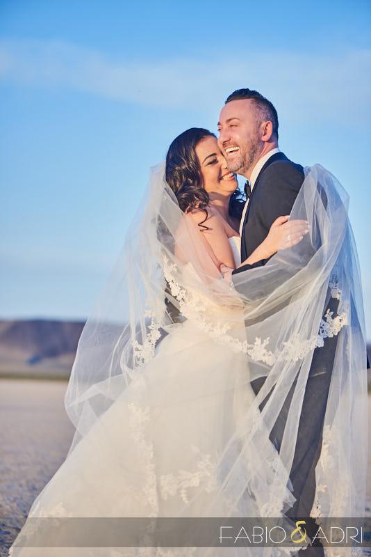 Post Wedding Photo Shoot Las Vegas desert
