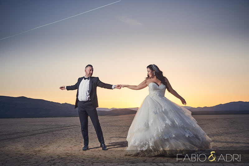 Dry Lake Desert Wedding Photos Las Vegas