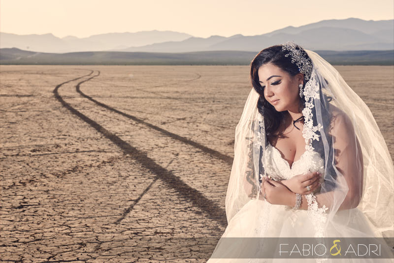 Las Veas Desert Bridal Session