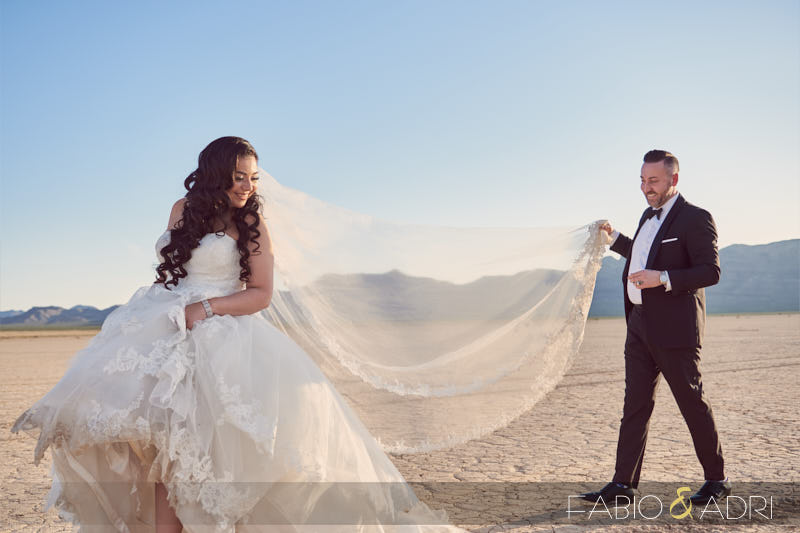Las Vegas Desert Trash the Dress Session