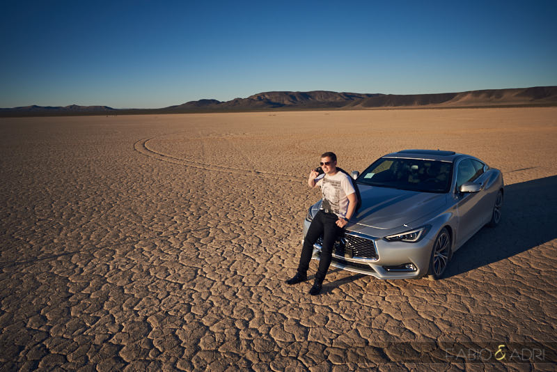 Dry Lake Enagement Photos Car
