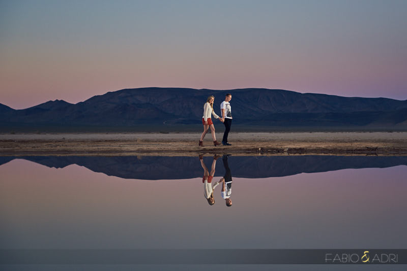 Las Vegas Desert Dry Lake Engagement Session Photos