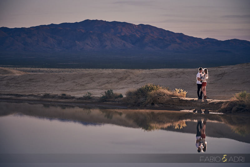 Desert Dry Lake Engagement Session Photos Las Vegas