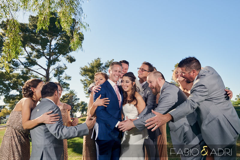Bridal Party Photo at The Resort at McCormick Ranch